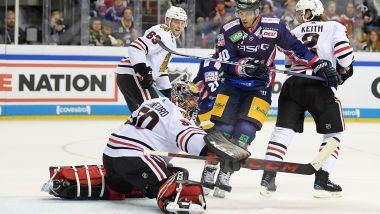 Chicago Blackhawks gewinnen bei NHL Global Series in Berlin